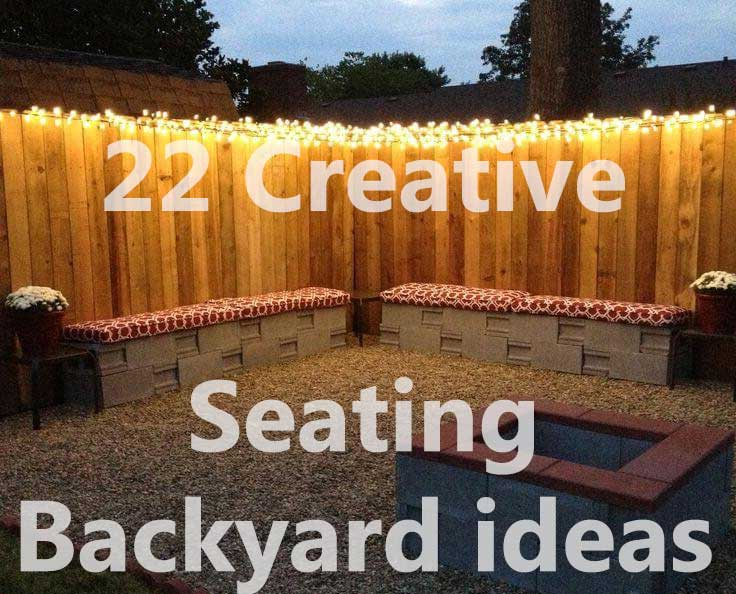 Creative Backyard Seating Ideas Creative Ideas - Backyard seating ideas